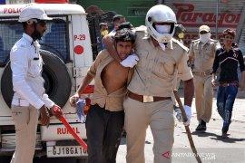Ratusan polisi di India positif terinfeksi virus corona