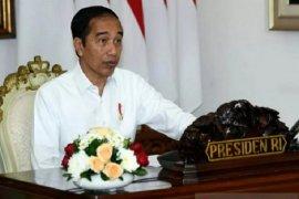 Presiden Jokowi berdialog dengan perajin kayu asal Bali