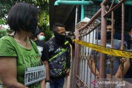 Polisi gelar pra-rekonstruksi kasus pembunuhan mayat dalam kardus di Cemara Asri