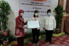 dr Andi Amrani Jabat Kepala UTD PMI Kutim