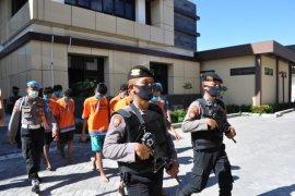 Sembilan orang komplotan begal motor di Sidoarjo dibekuk
