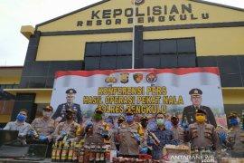 Operasi pekat nala, Polres Bengkulu amankan ribuan butir obat keras