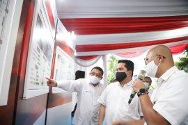 Erick Thohir tinjau laboratorium biomolekuler PCR Rumah Sakit PHC Surabaya