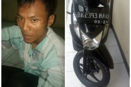 Polisi Binjai Utara amankan pelaku pencurian sepeda motor dari amukan warga