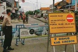 Empat jalan protokol di Kabupaten Cirebon ditutup sementara