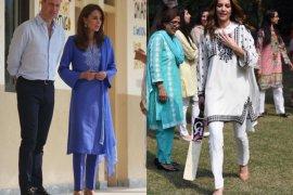 Busana shalwar kameez ala Kate Middleton jadi inspirasi fesyen Idul Fitri