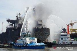 Ini dia kronologis kebakaran kapal tanker di Pelabuhan Belawan