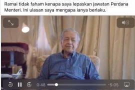 Mahathir ungkap pengunduran dirinya dari Perdana Menteri Malaysia