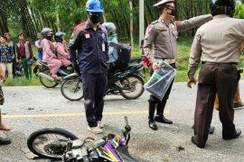 Pengendara dan penumpang motor tewas tabrakan di Jalan lintas Pematangsiantar - Medan