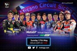 Balap virtual seri keempat MotoGP menuju kandang Rossi