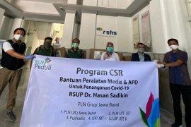 PLN Grup Wilayah Jawa Barat salurkan bantuan APD ke RSHS Bandung