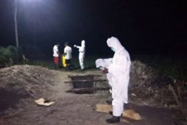 Seorang perempuan PDP corona asal OKU Sumsel meninggal dimakamkan di Kota Metro