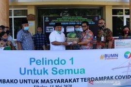 Pelindo Sibolga salurkan 500 paket sembako bagi warga terdampak COVID-19