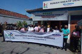 Satgas BUMN Bali serahkan 800 paket sembako antisipasi COVID-19