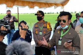 Kapolda Kalsel kawal kunjungan Menteri Pertanian di Bumi Lambung Mangkurat