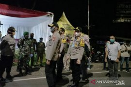 Kapolres Subang lakukan pengecekan pos pengamanan di jalan Tol Cipali