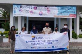 Gugus Tugas COVID-19 Sumut salurkan bantuan sembako untuk  sopir angkutan umum