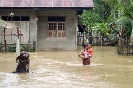 Banjir kembali landa Kabupaten Aceh Jaya, ratusan rumah terendam