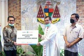 Pelindo 1 salurkan APD untuk rumah sakit di empat provinsi