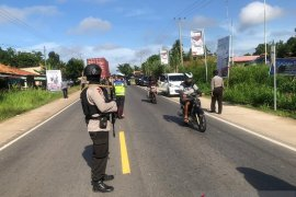 Personel Brimob digeser ke perbatasan Jambi cegah penyebaran corona
