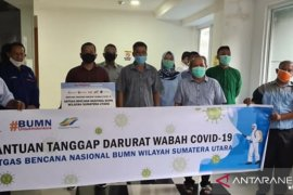 Gugus Tugas Labuhanbatu terima bantuan APD dari BUMN dan Partai Nasdem