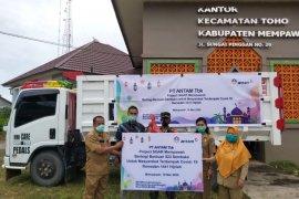 PT Antam TBK salurkan ratusan paket sembako enam desa di Mempawah