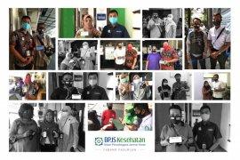 Putus penyebaran COVID-19, BPJS Kesehatan Pasuruan beri masker gratis peserta aktif mobile JKN