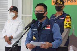 Gubernur umumkan zona merah hingga biru COVID-19 di Jabar