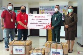 Telkom Papua Barat bantu Pemkot Sorong APD COVID-19