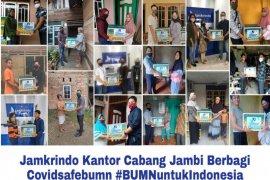 Jamkrindo donasikan bantuan untuk masyararakat terdampak COVID-19