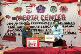 Sejumlah perusahaan tambang di Malut salurkan bantuan ke Gustu COVID-19