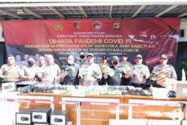Polisi Lampung gagalkan peredaran puluhan kilogram sabu-sabu