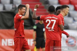 Bola, Bayern torehkan rekor baru dengan cetak 80 gol dalam 27 pertandingan