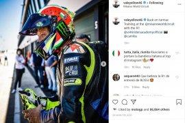 Valentino Rossi ngebut di Sirkuit Misano menyusul pelonggaran lockdown