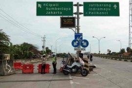 Polresta Cirebon batasi akses pintu tol menuju Jakarta