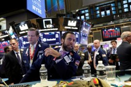 Wall Street berakhir lebih tinggi, Dow melonjak lebih dari 500 poin