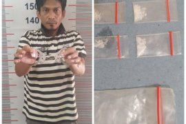 Polisi Besitang Langkat ringkus pemilik enam paket sabu-sabu