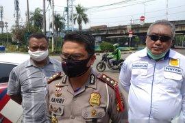 Sopir bajaj tersangka tabrakan dengan bus Transjakarta