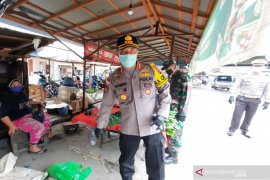 Kapolresta Banjarmasin pimpin pendisiplinan pasar jelang new normal