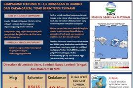 Gempa bumi bermagnitudo 4,3 guncang Pulau Lombok, warga berhamburan ke luar rumah