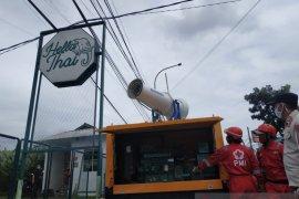 PMI Kota Sukabumi kerahkan gunner spraying cegah penyebaran corona