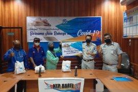 Jasa Raharja Babel Serahkan Bantuan 259 Paket Sembako ke Masyarakat