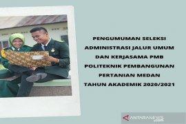 Polbangtan Medan umumkan peserta PMB lulus administrasi jalur umum dan kerjasama