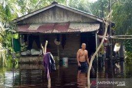 Babinsa Koramil 1202-08/Sedau pantau banjir di Kecamatan Singkawang Utara