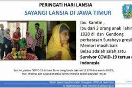Nenek usia 100 tahun di Surabaya sembuh dari corona