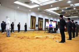 Gubernur Jatim dan kepala OPD ikuti upacara Hari Lahir Pancasila secara virtual
