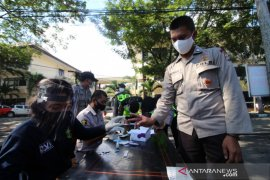 70 personel polisi pengamanan perbatasan Gorontalo jalani rapid test