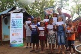 ACT Maluku santuni anak yatim di kamp pengungsi Desa Liang