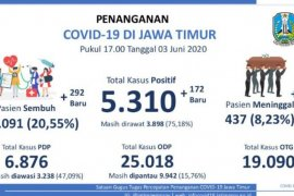 Bertambah signifikan, pasien sembuh dari COVID-19 di Jatim mencapai 1.091 orang