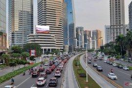 Jalan Sudirman Jakarta kembali ramai
